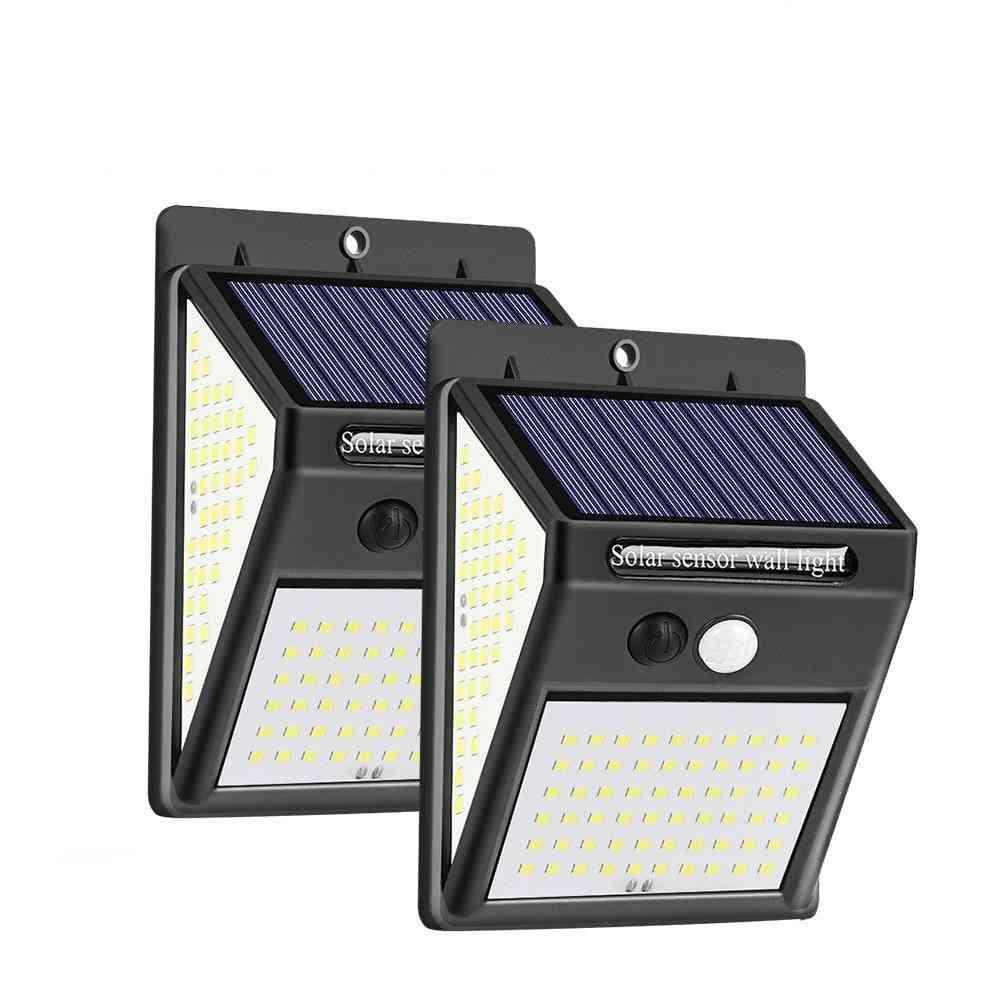 100 Led Solar Light Outdoor Solar Sunlight 3-modes Pir Motion Sensor For Garden Decoration