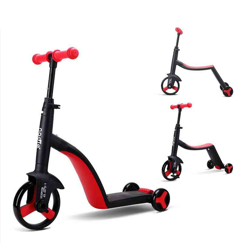 Folding, Kick Tricycle Bicycle-scooter For Kids Over 3 Yrs Old