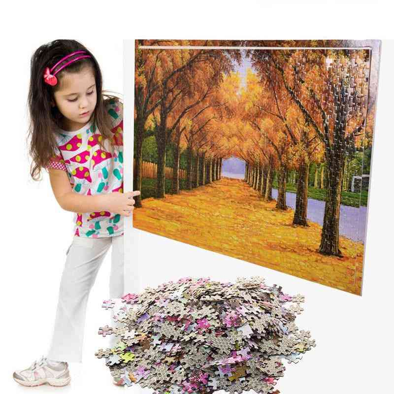 Jigsaw Puzzle Wooden Paper Puzzles - Educational For