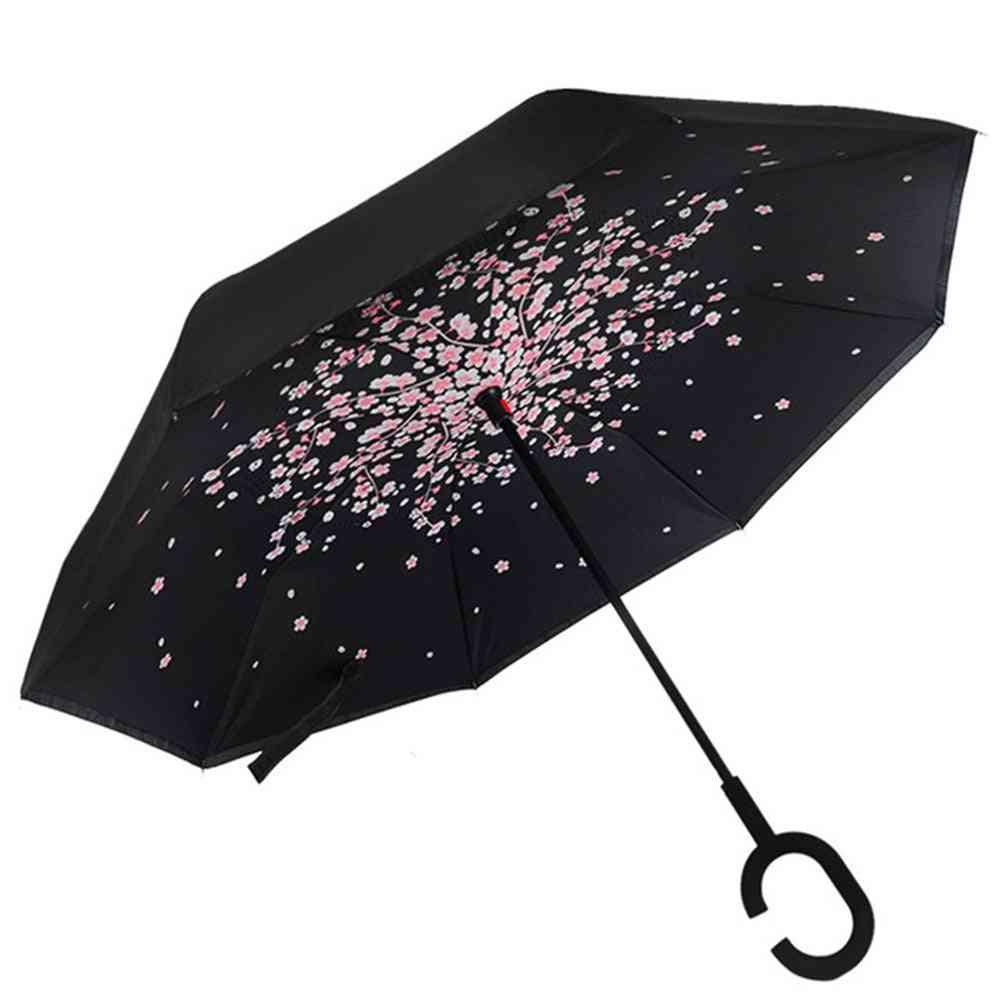 Fancytime Reverse Folding Double Layers Rain Umbrella