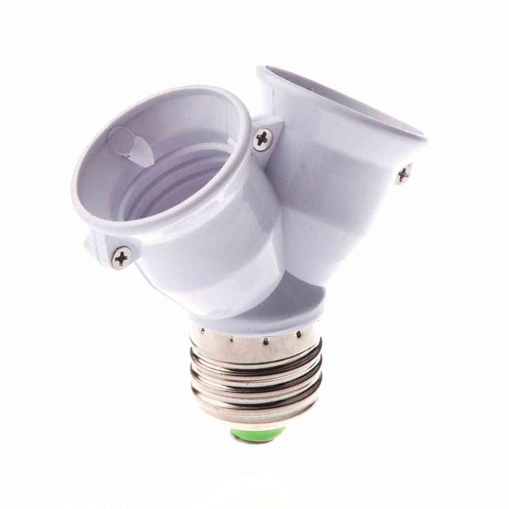New Fireproof Material 27 Lamp Holder -e27 To 2 E27 Led Y Form