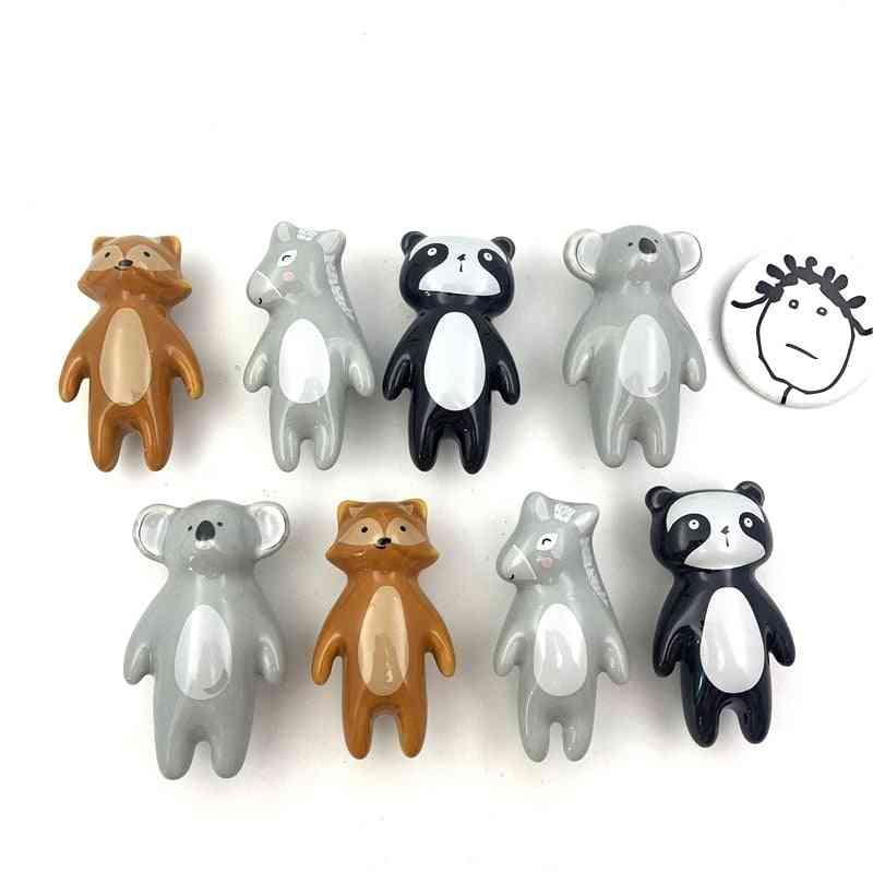 Panda Fox Koala Donkey Shaped Room Hardware Museum Cabinet Drawer For Kids