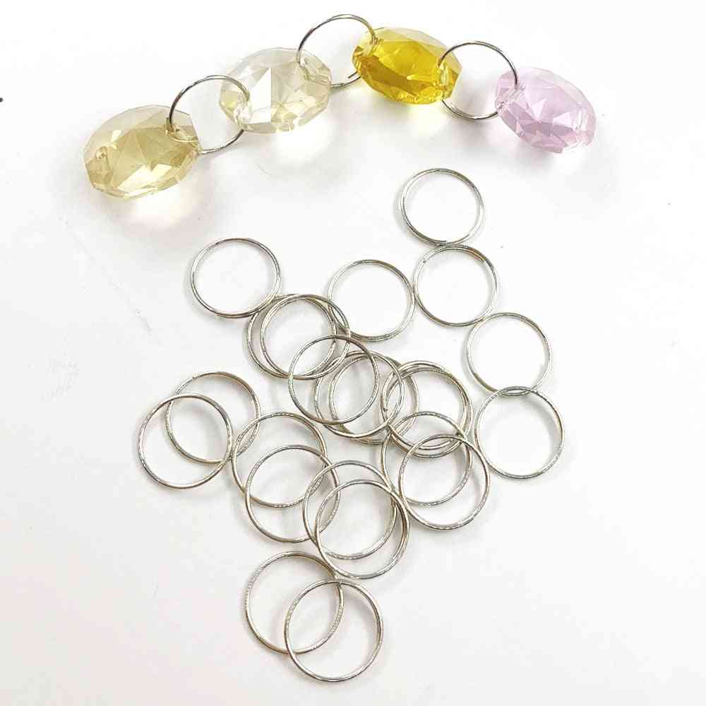 Round Stainles Steel Ring Crystal For Chandelier Ball Parts