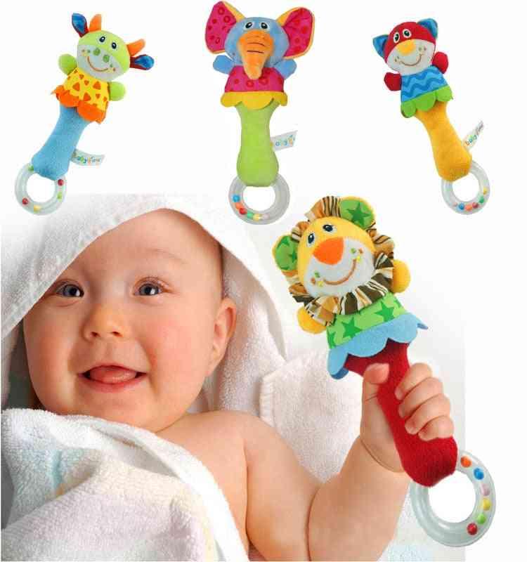 New Design Plush Baby Toy -animal Hand Bells Rattle