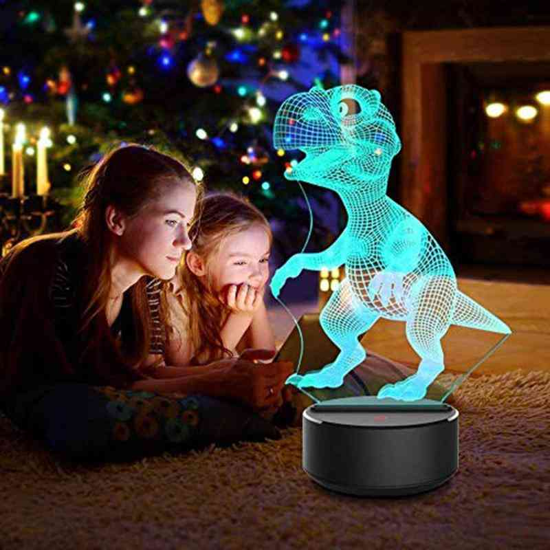 3d Dinosaur Led Lamp -with 7 Colors And Touch Control Kids Toy