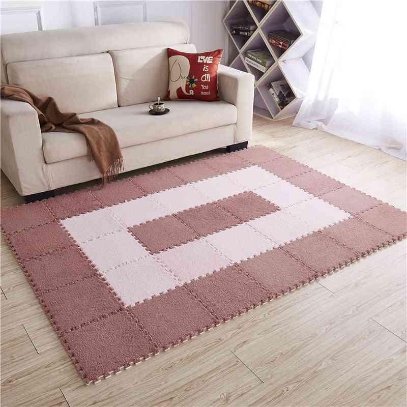 Eva Plush Puzzle Play Mats - Foam Shaggy Velvet Carpet Decorative Room