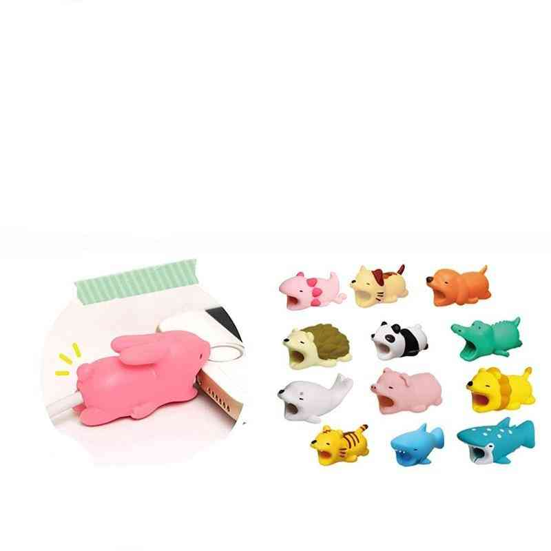 Cute Cable Bite Animals Protector - Cartoon Wire Phone Holder