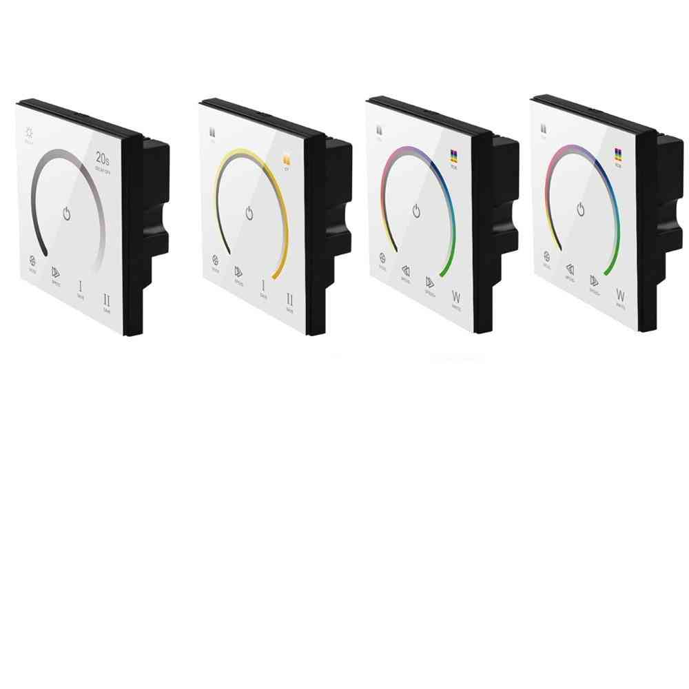 86 Touch Panel-switch Dc12-24v Controller Light-dimmer Switch, Single Color/ct/rgb/rgbw Led Strip Tempered Glass Wall Switch