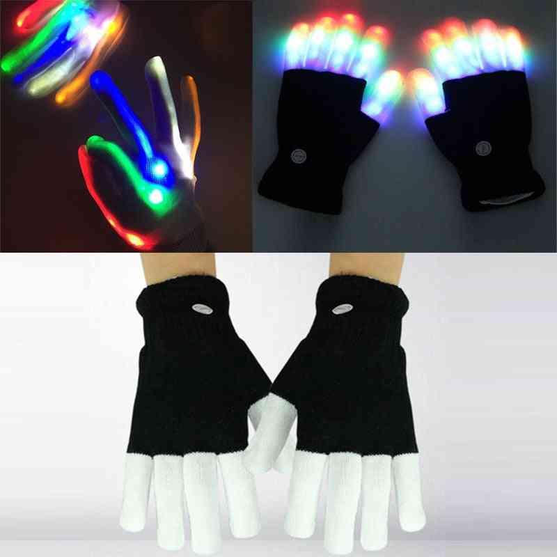 Led Flashing Magic Glove, Glow In The Dark- Finger Tip Lighting Toy