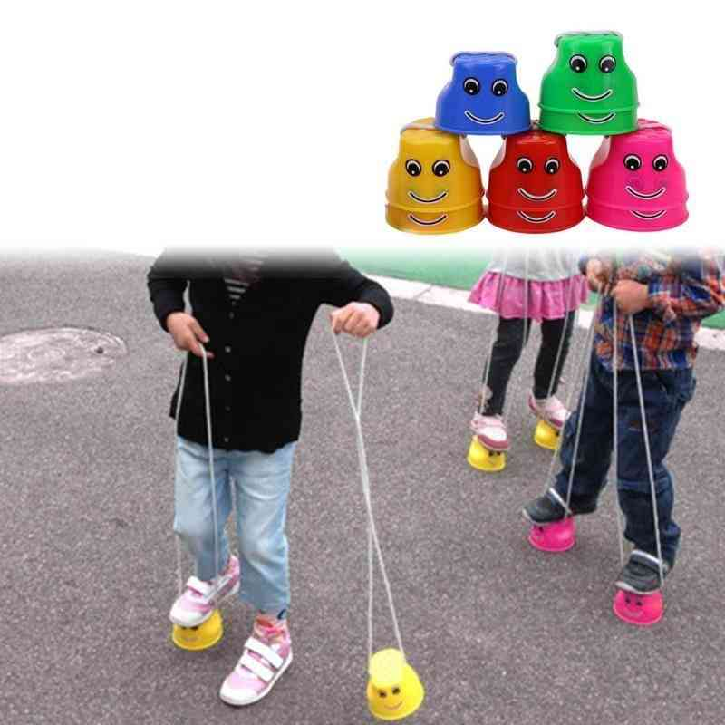 Stilts Simple Durable Bright Colors Balance Sense Training Outdoor Games Thickened Jumping Fun Toy