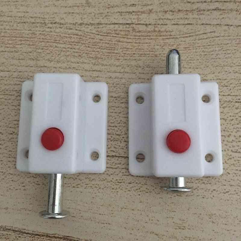 10pcs/lot Window Cabinet Push Button- Automatic Door Bolt
