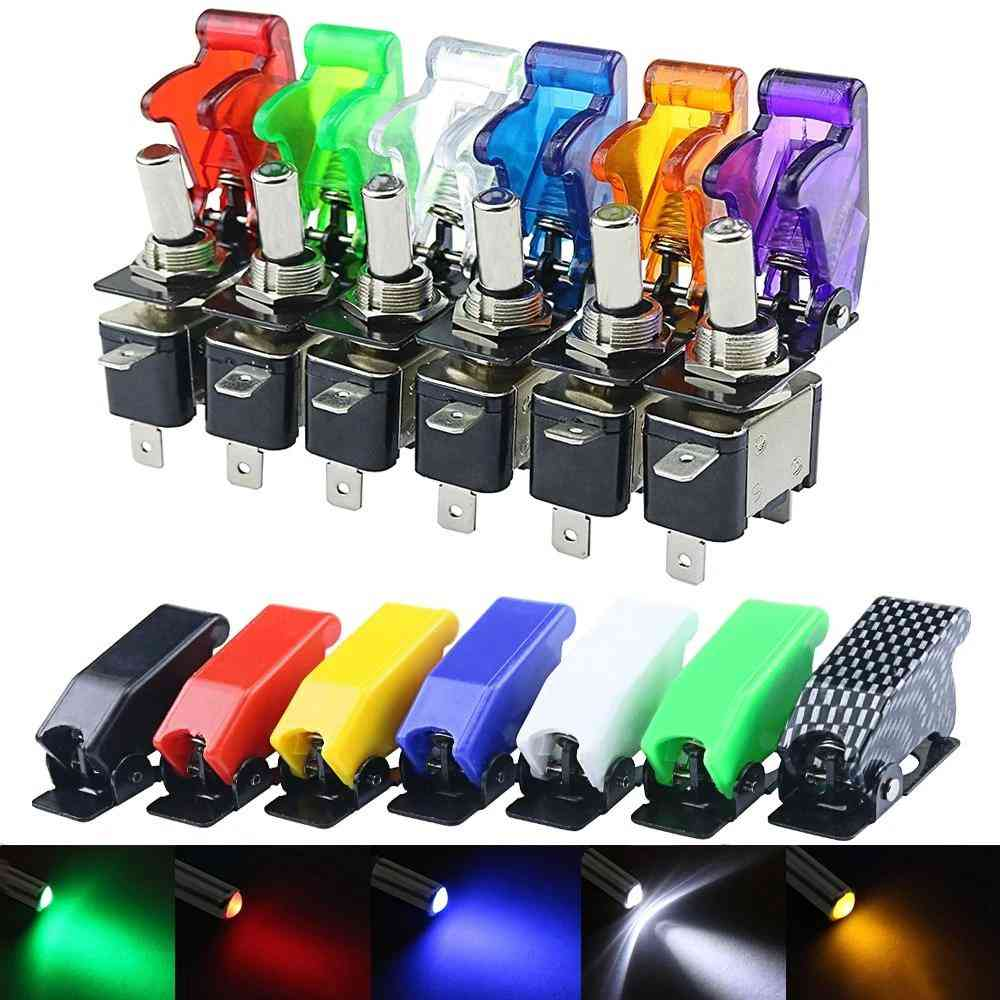 Auto Car/boat/truck Illuminated Led Toggle - Switch With Safety