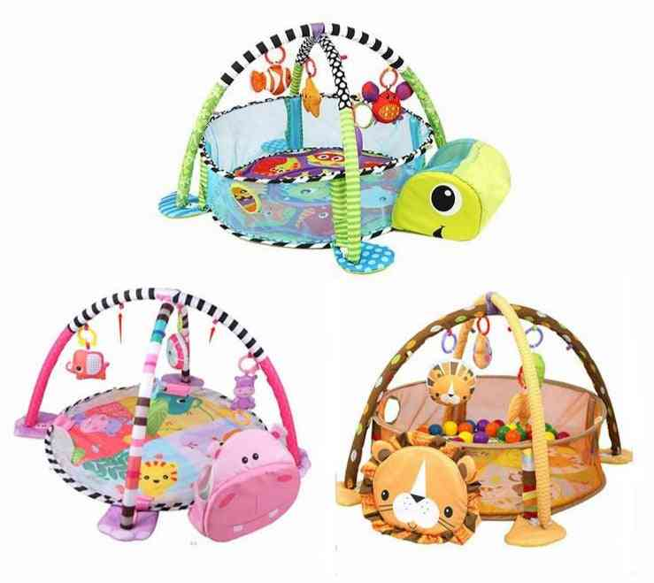3 In 1 Mat For Crawling, Playing, And Educational Learning Of Animal Shape