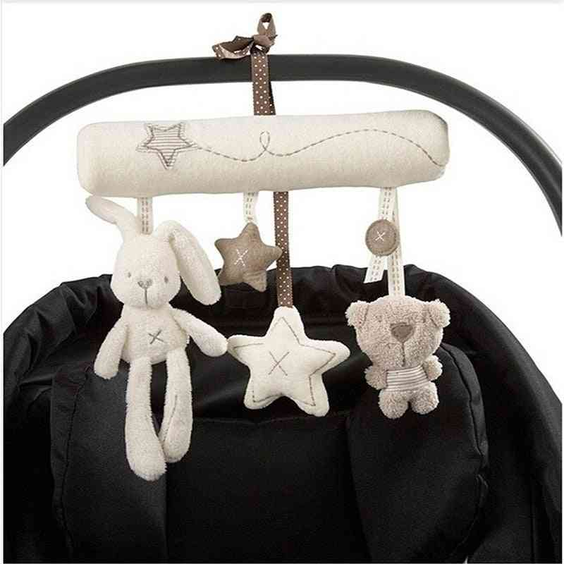 Baby Rattles Plush Baby - Soft Animal Musical Rattle Stroller