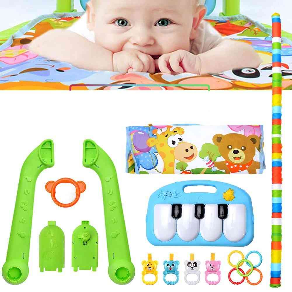 Baby Music Rack, Play Mat, Rug Puzzle Carpet With Piano Keyboard