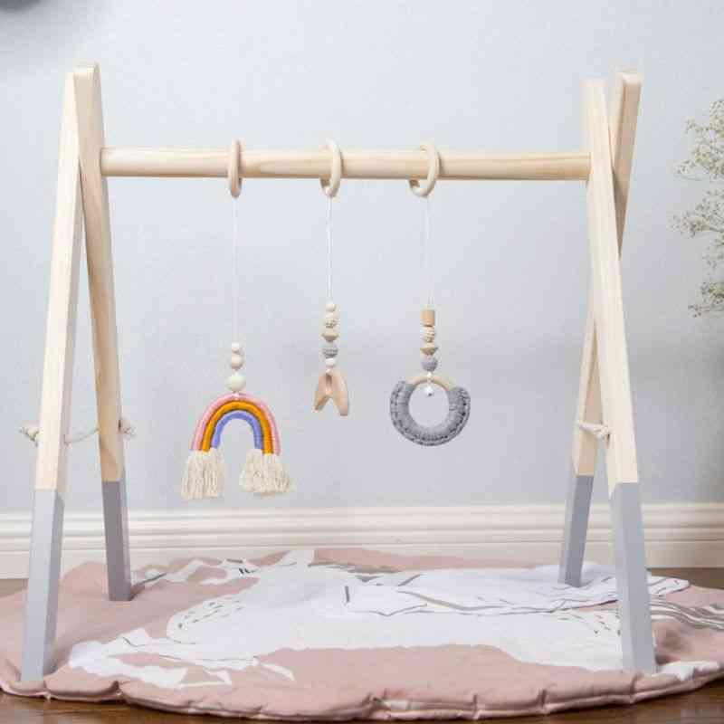 Wooden Gym Fitness Frame Rack, Hanging Pendant Kit, Room Decorations