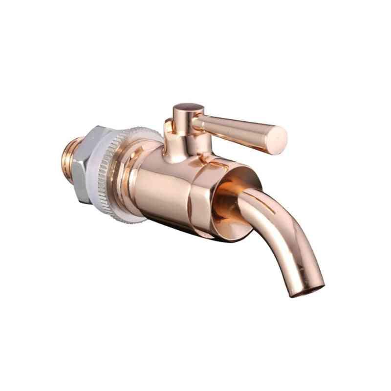 Faucet Tap - High Quality Brass Oak Barrel Wine Drink Glass Bottle