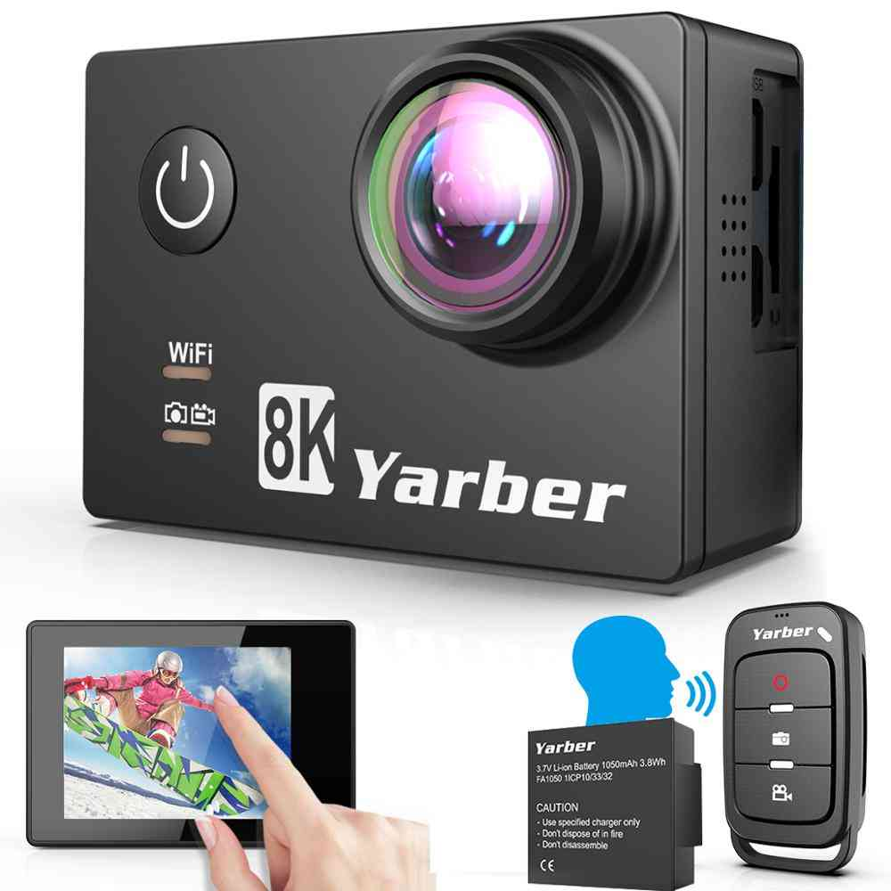 8k Wifi Action Camera-170 Degree Wide Angle