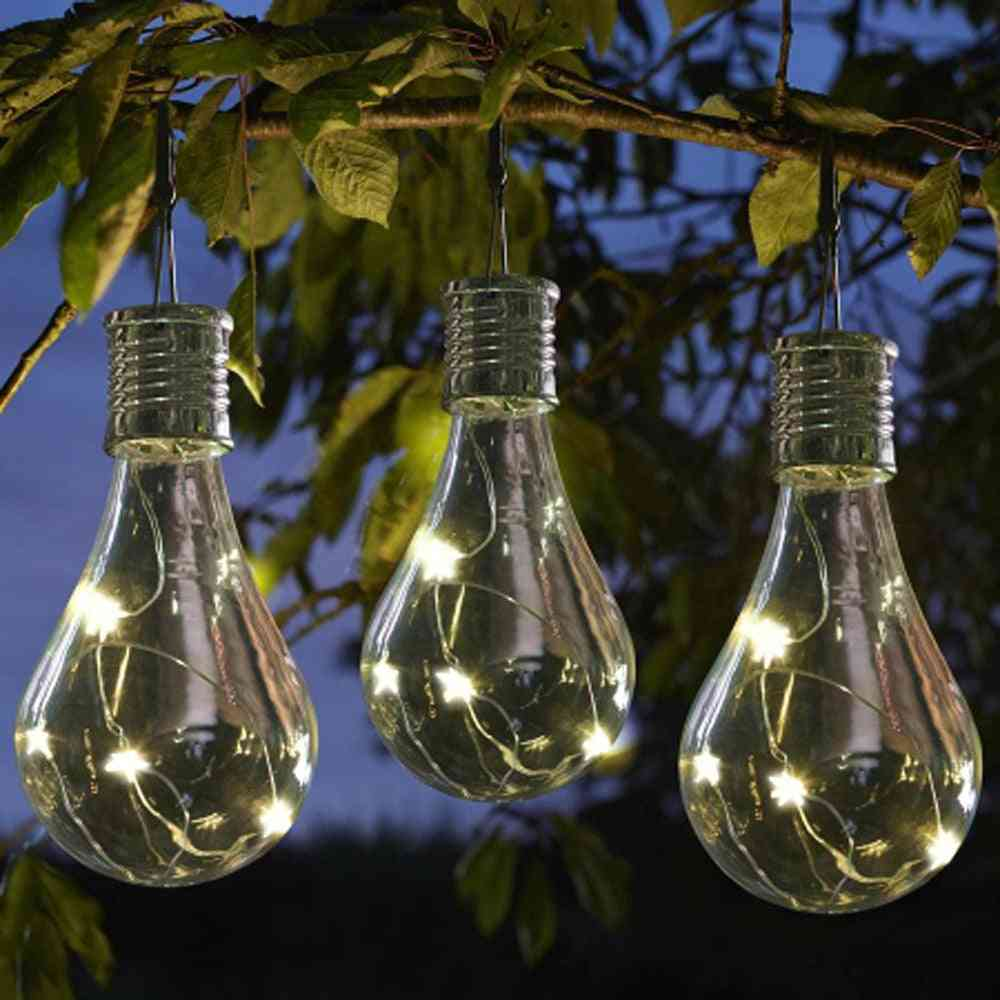 Waterproof Solar Rotatable Outdoor Garden - Camping Hanging Led Light Lamp Bulb