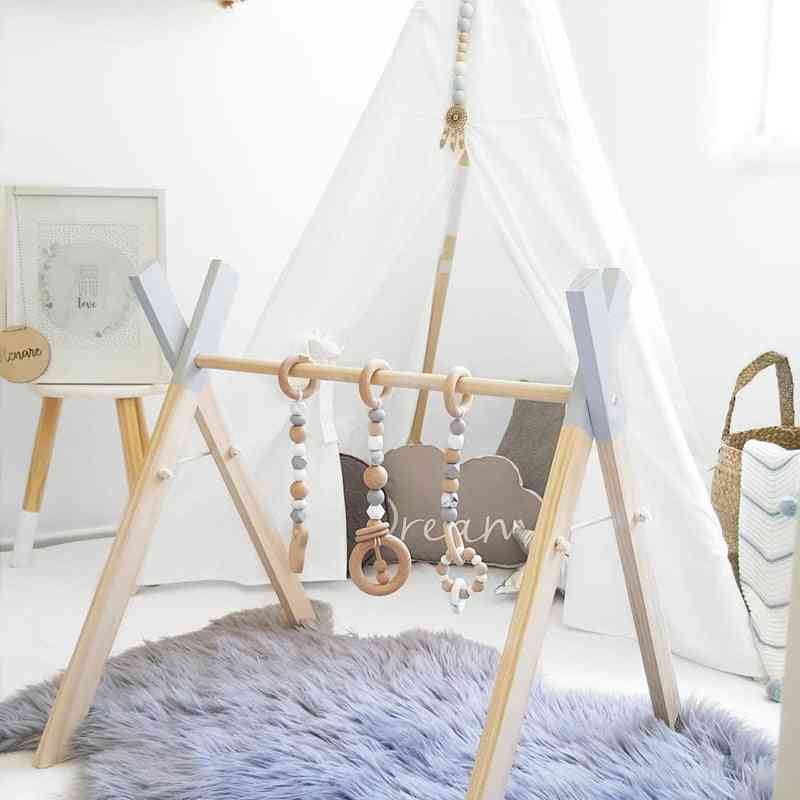 Baby Activity Gym, Ring-pull Toy - Wooden Frame