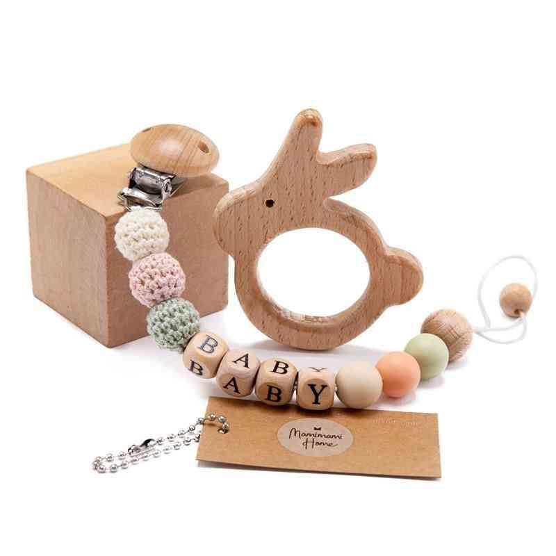 Wooden Pacifier Chains Beads For Baby
