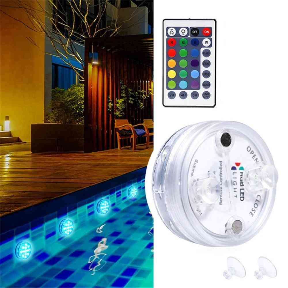 Rgb Submersible Light -with Magnet 13 Led For Underwater