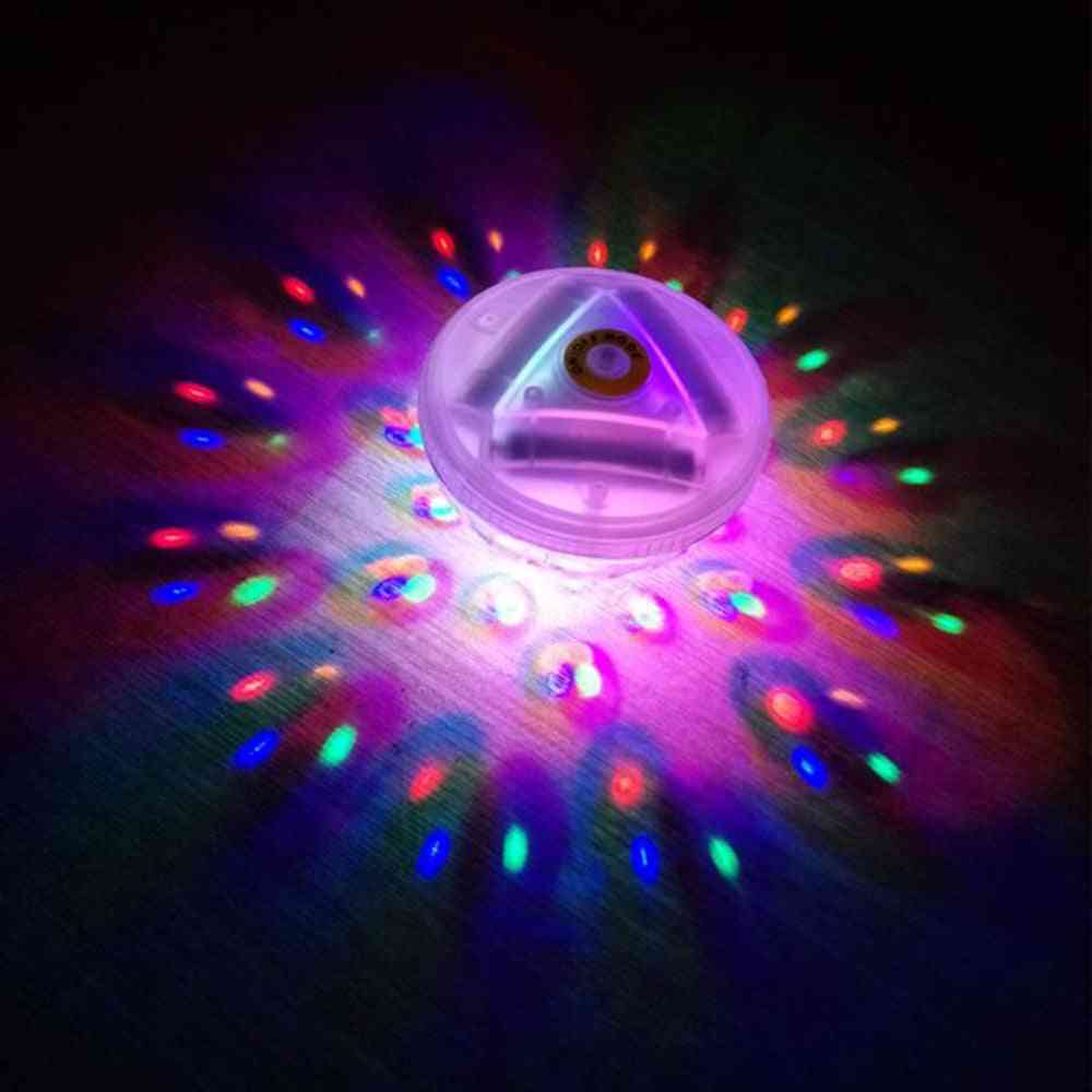 Floating Underwater Light Rgb Submersible Led For Disco Light Glow Show Swimming Pool (rgb)