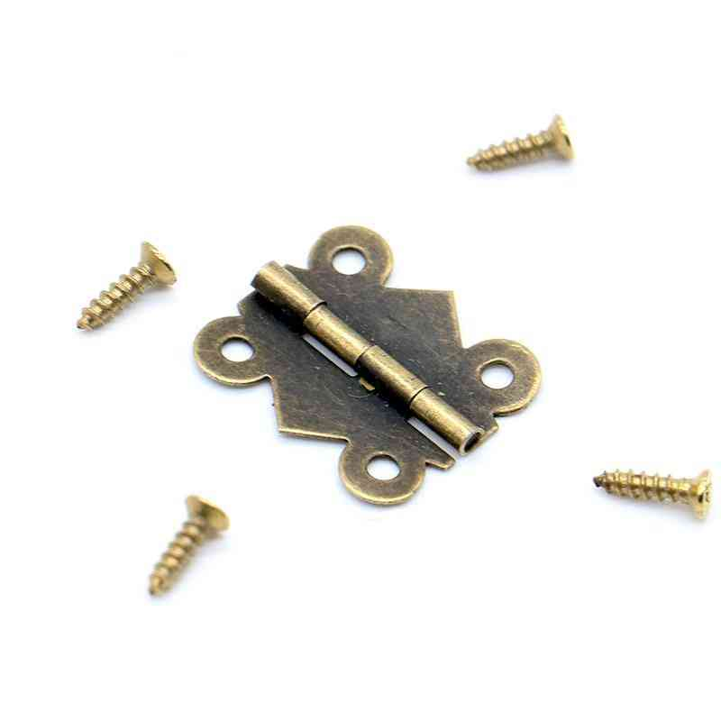 30pcs (20mm X17mm) Mini Butterfly Style Hinges