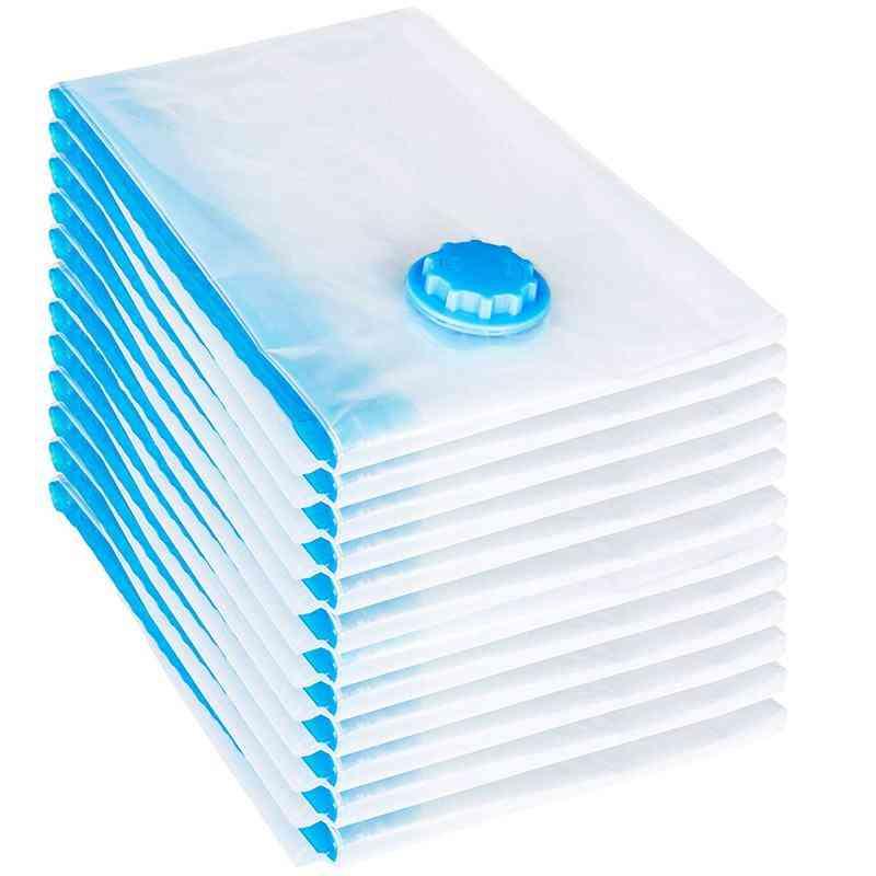 12 Pcs Set Vacuum Bag, 60x40 Cm Storage Sack Vacuum Bag (blue)