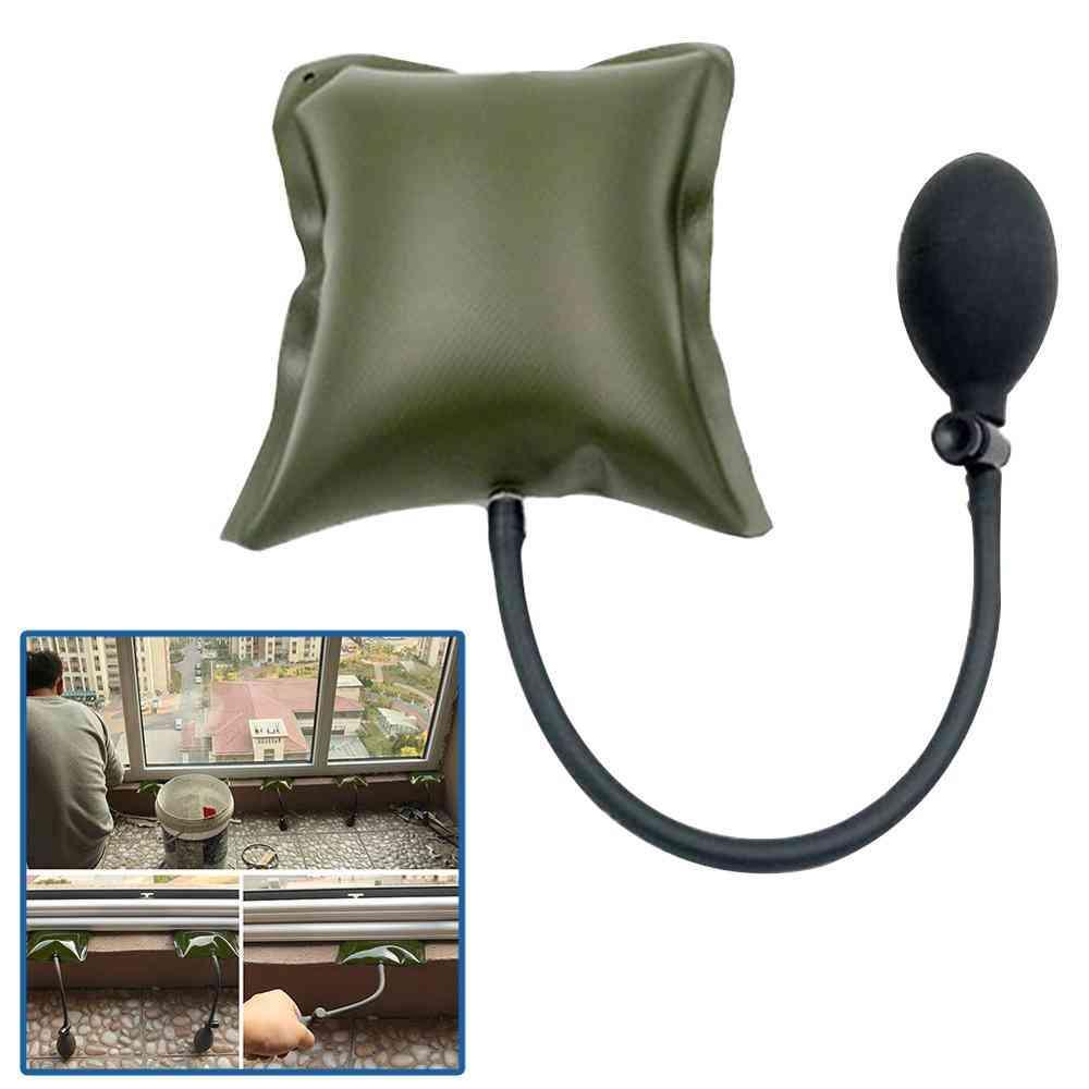 Airbag Cushioned Hand Pump- Auto Repair Car Window / Door Key Lost Air Wedge Airbag Lock, Out Emergency Open Unlock Pad Tool Kit