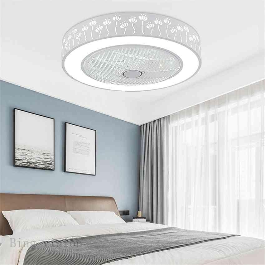 Modern Minimalist Iron Ceiling Fan Light