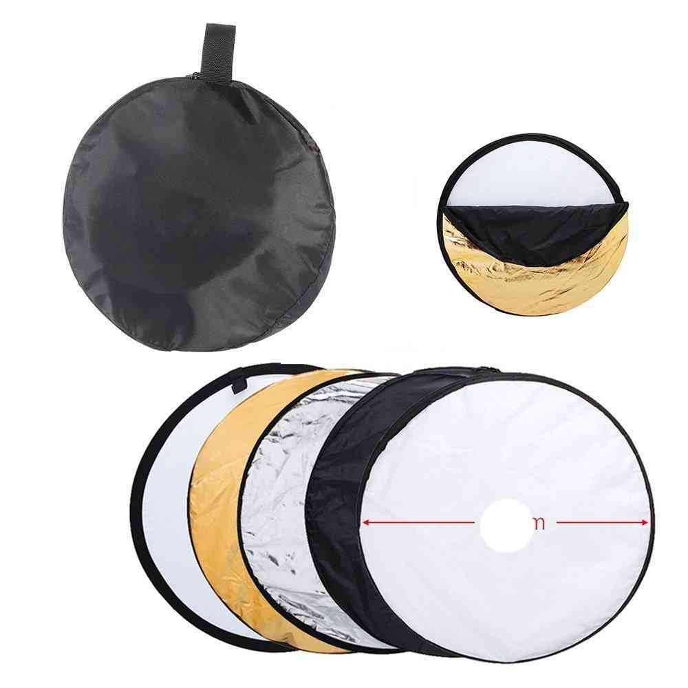 Reflector Collapsible Light Round Photography White Silivery For Studio Multi Photo Disc Diffuers