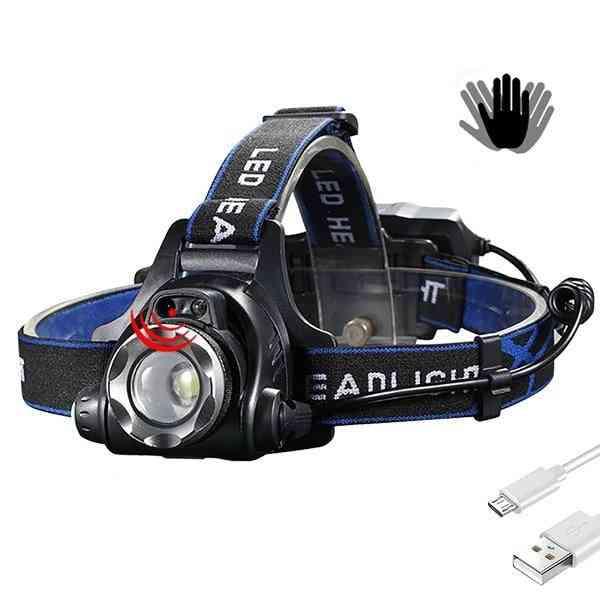 Ir Sensor Headlight - Usb Rechargeable V6