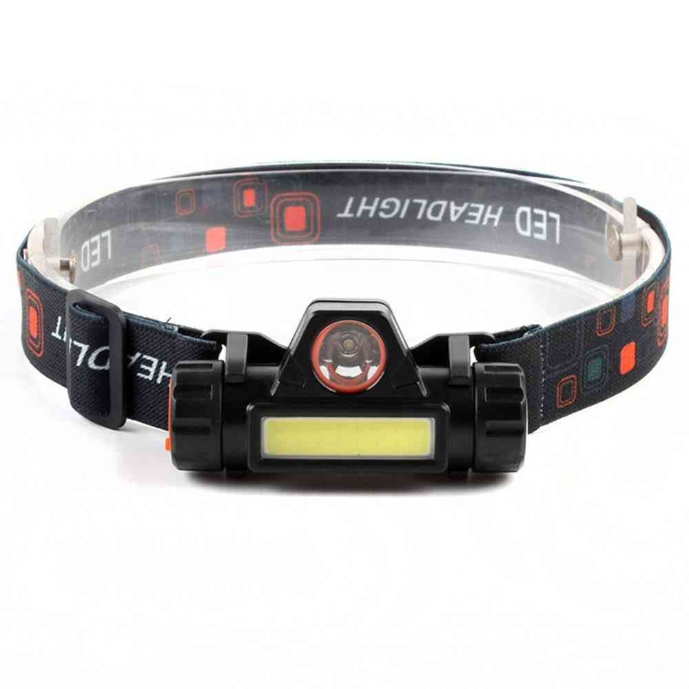 Waterproof Led Headlamp - Cob Work Light Built-in 18650 Battery Suit For Fishing / Camping