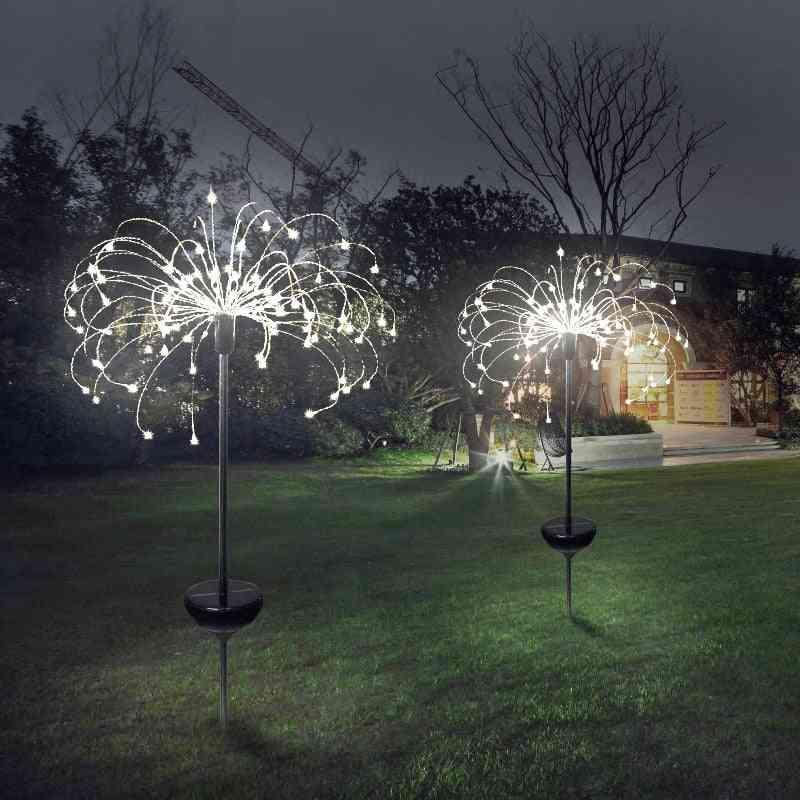 Outdoor Waterproof Led Solar Light - Flash String Lawn Fireworks Lamp