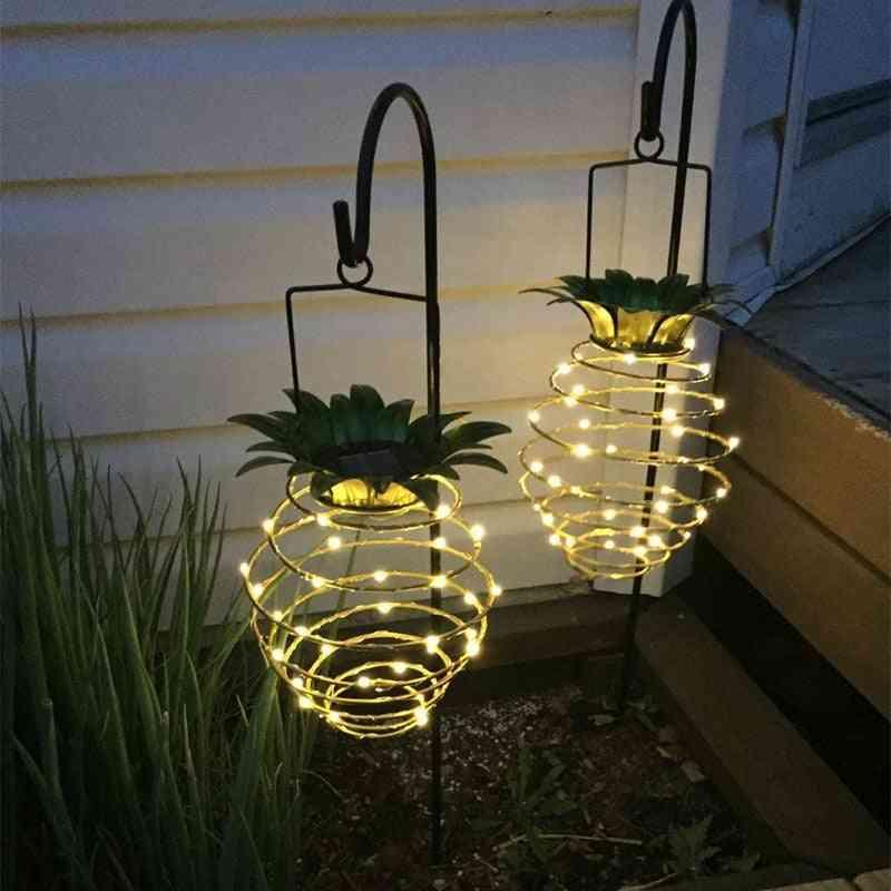 Waterproof Pineapple Shape Solar Garden Lights - Wall Lamp For Outdoor Hanging