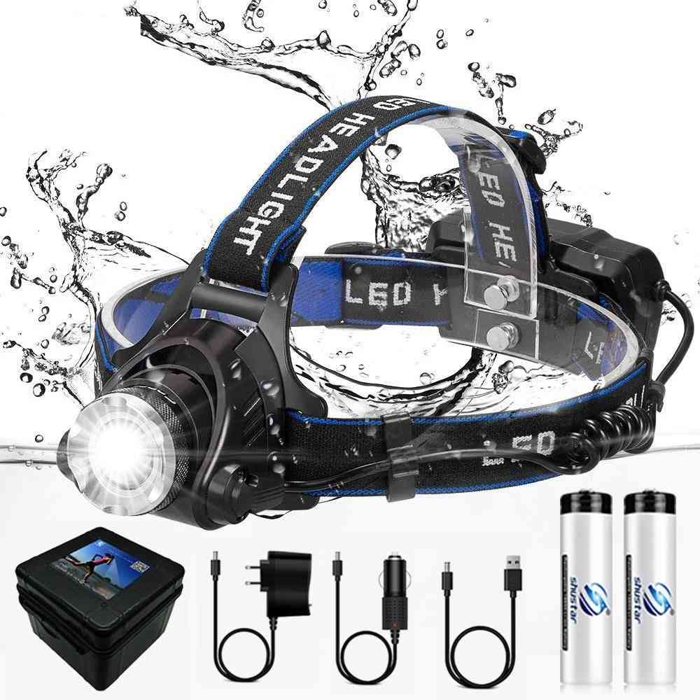 Led Headlamp - Zoomable Waterproof Super Bright Camping Light
