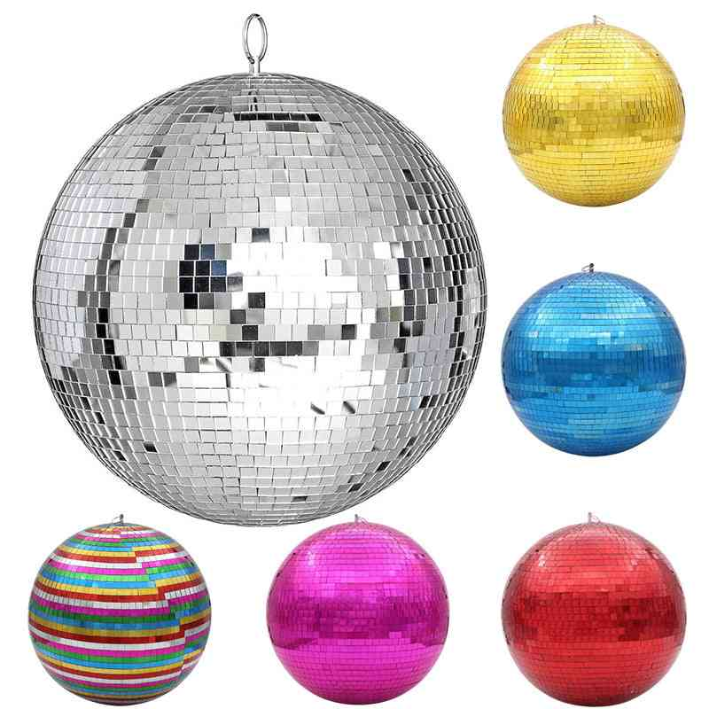 30cm Rotating Mirror Disco Ball-stage Light With Colorful Reflection
