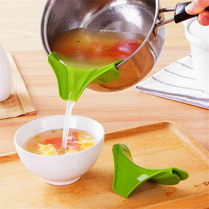 Leak-proof, Silicone Heat-resitant-pans Deflector, Funnel Tools