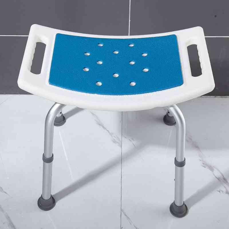 Barrier Free, Shower Stool With Adjustable Height For Elderly/disabled