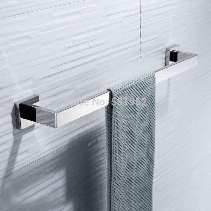 23 Inch Stainless Steel - Wall Mounted Single Towel Shelf Rack / Holder