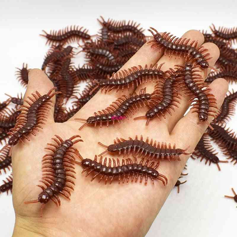 April Fools Day Halloween Burlesque Toy - Simulation Rubber Centipede Gags & Practical Jokes Prop Decorations