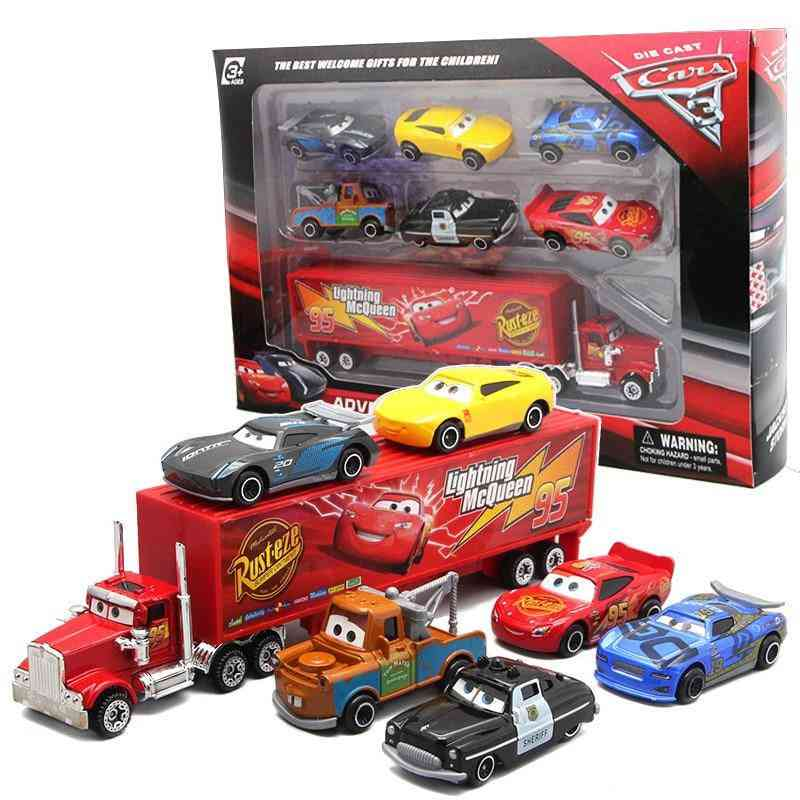 Disney Pixar Car 3 Lightning, Mcqueen, Jackson Storm Mack Uncle Truck Toy For Boy