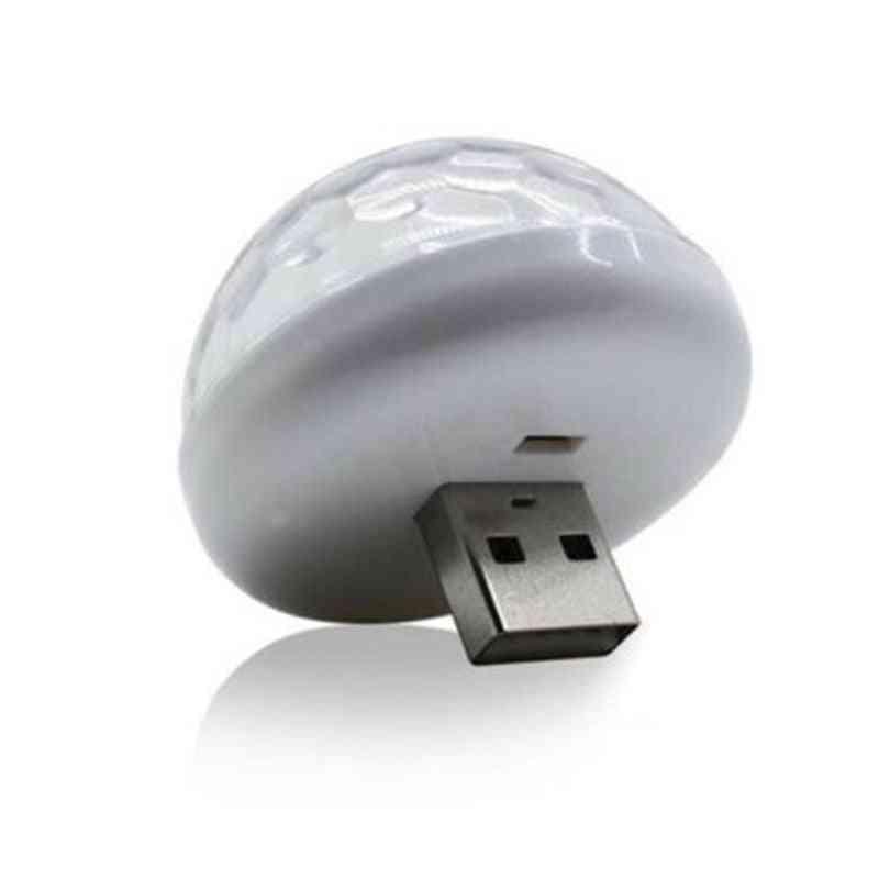 Mini Usb Rgb Led Disco Stage Light, Portable For Mobile Phone