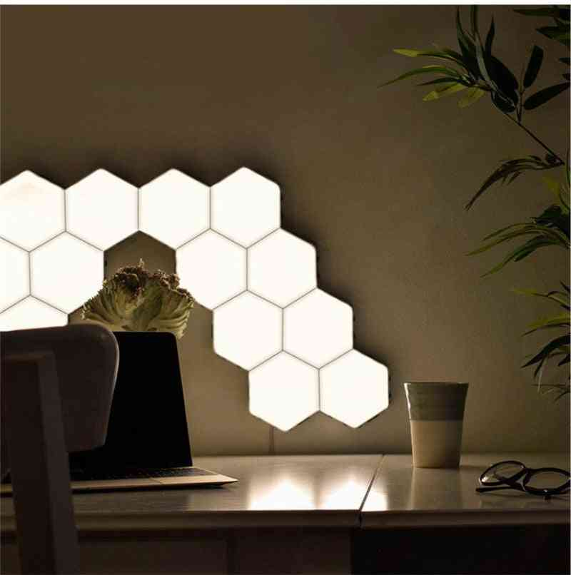 Quantum Led Hexagon Modular Captivative Touch - Magnetic Wall Lamp