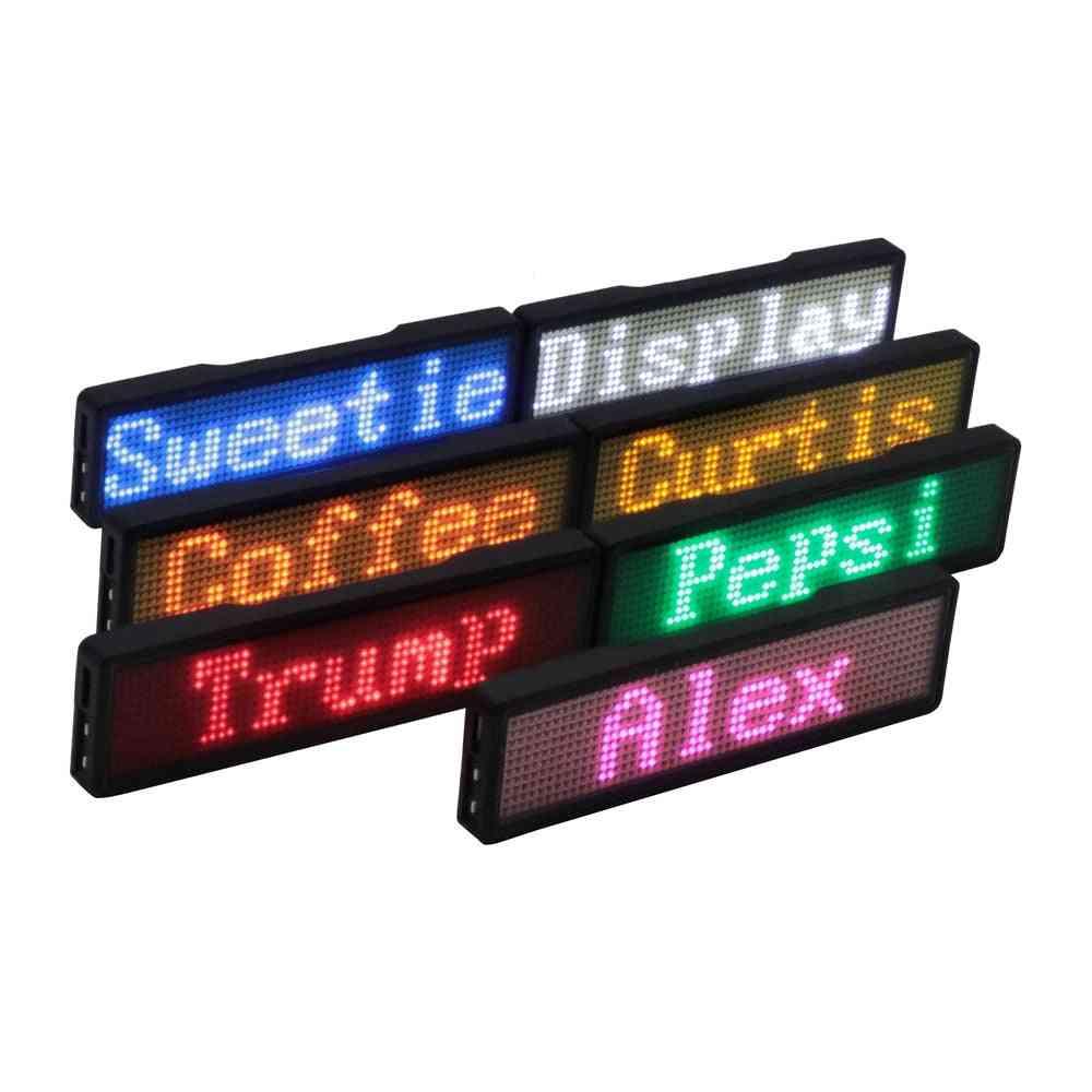 Bluetooth Digital Led Badge - Diy Programmable Scrolling Message