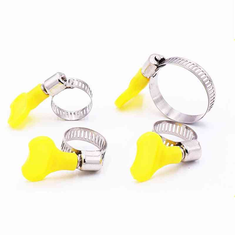 Tube Plastic Handle Stainless Steel Butterfly Hose Clamp