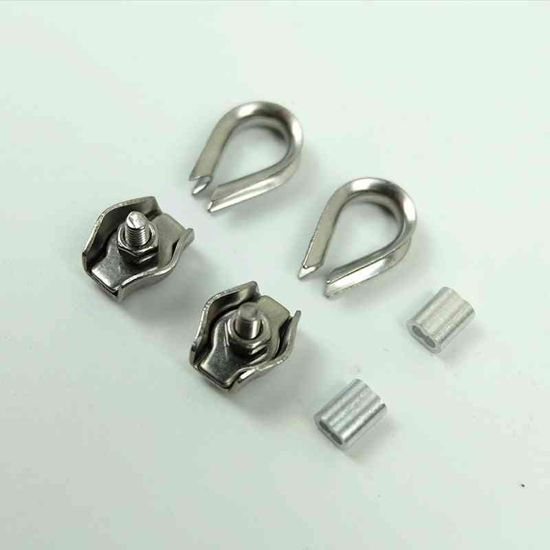 Thimbles Ring, Single Grips Cable Clamps And Aluminum Ferrule For Stainless Steel Wires Rope