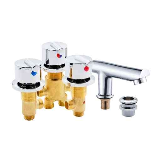1 Set Hot And Cold Water Copper Massage Bathtub Faucet