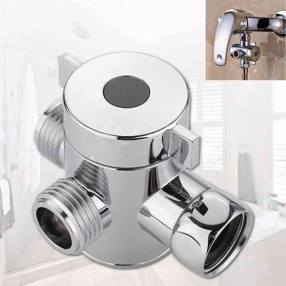 1/2 Inch Three Way T Adapter Valve For Toilet Bidet - Multifunctional Showerhead Switch Interface